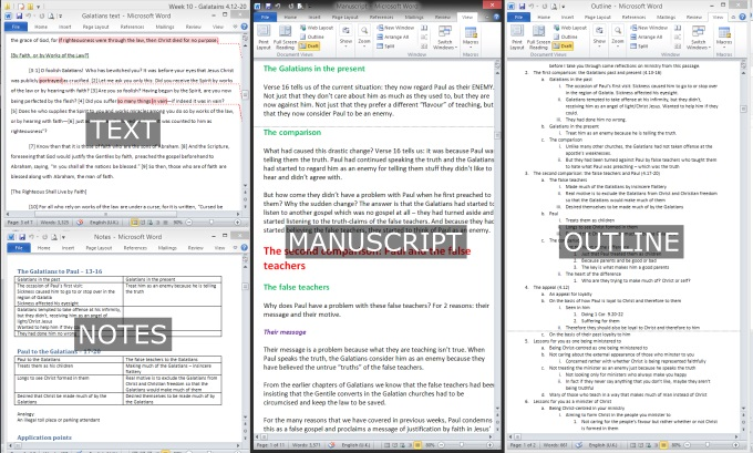 Text, notes, manuscript and outline.