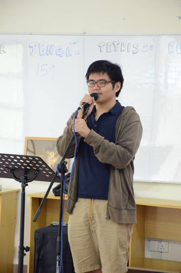 Wei Kin during a YF camp up in Dominic Villa